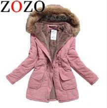 Windbreaker Jacket Women's Fall Winter Coat Women's Outerwear Plus Size Casual Long Down Cotton Cotton Lady Fashion Warm Woman