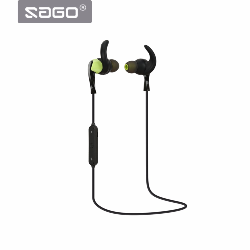 SAGO S1 Bluetooth Earphones With Mic Sports Wireless BT4.1 IPX5 Waterproof Headset for Mobile phone in ear Wholesale price
