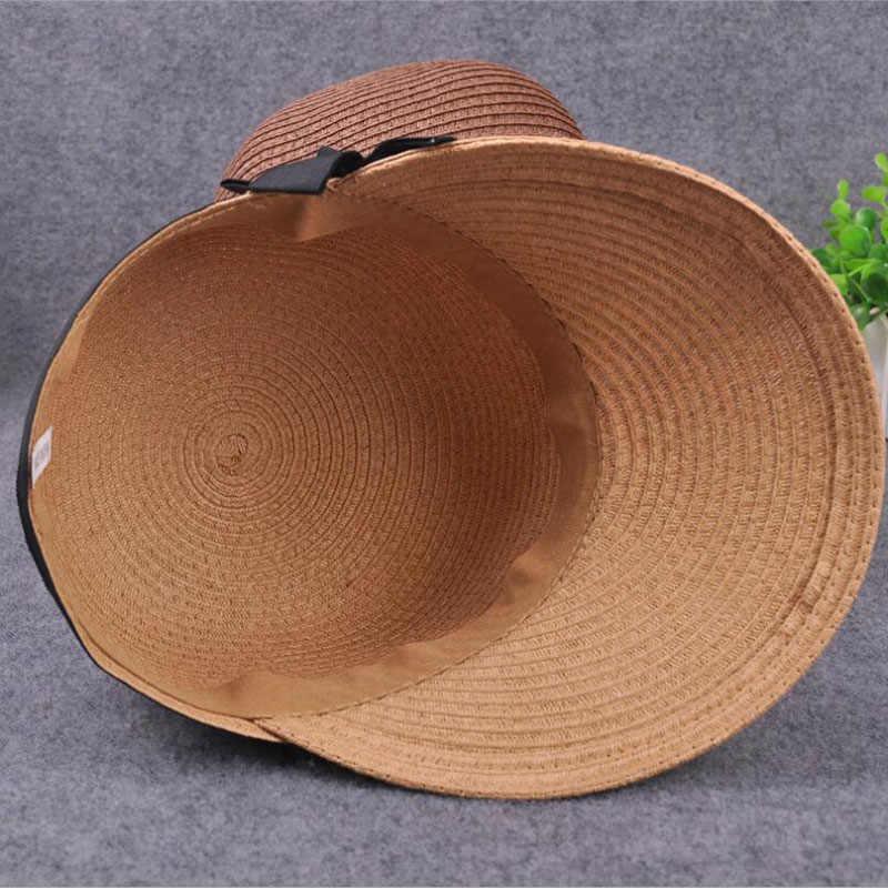 馬術ケンタッキーダービー帽子バイザー Sobrero 太陽の帽子男大つば麦藁帽子夏帽子のための女性ビーチキャップ