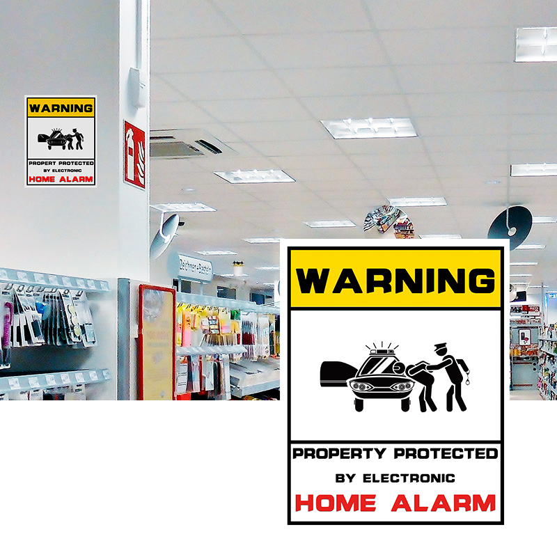 Image 3 - 1pcs Waterproof Home CCTV Video Surveillance Security Camera Security Home Alarm Sticker Warning Decal Signs-in Warning Tape from Security & Protection