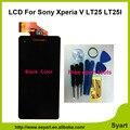 1 шт. Черный 100% Тестирование высокого качества 4.3 дюймов Новый Дисплей сенсорного Экрана Digitizer LCD собрание Для Sony Xperia V LT25 LT25i