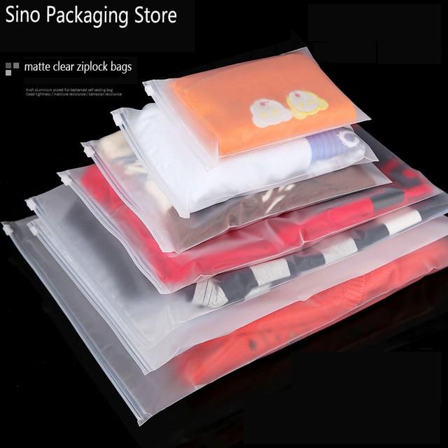 Fosco Saco Ziplock Sacos de Viagem De Armazenamento De Plástico Transparente Zip Lock Válvula Slide Selo Bolsa de Embalagem Para Cosméticos Roupas 10 pçs/lote