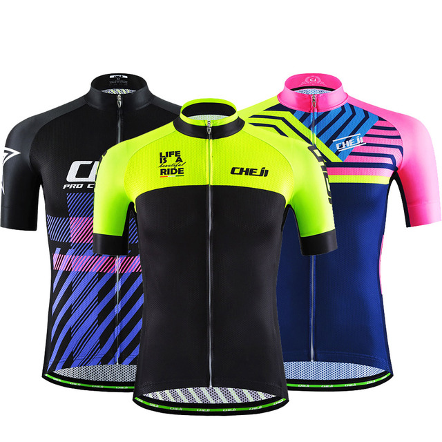 Reflective Cycling Jersey Men s Retro Bicycle Clothing Mountain Bike Jersey  Ropa Ciclismo Racing Maillot Ciclismo CHEJI Shirt 86f6891c4