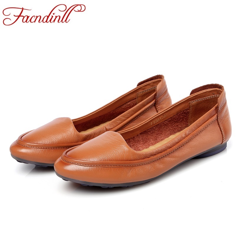 genuine leather women flats shoes new fashion high quality flat heel round toe shoes woman spring summer women casual shoes 2017 new fashion flats woman spring summer women shoes top quality pointed toe women flats suede comfort flat plus size 40