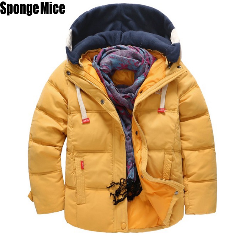 2017 Winter children's Single Breasted male padded jacket outerwear winter big boy child long design thickening z410 single boy