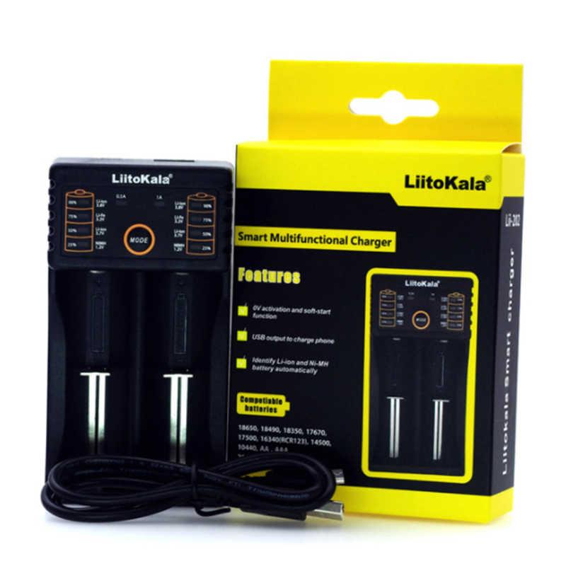 Умное устройство для зарядки никель-металлогидридных аккумуляторов от компании Liitokala: Lii-PD4 S1 ЖК-дисплей Батарея Зарядное устройство, Зарядка 18650 3,7 V 18350 18500 21700 20700B 10440 26650 1,2 V AA, AAA, никель-металл-гидридного Батарея