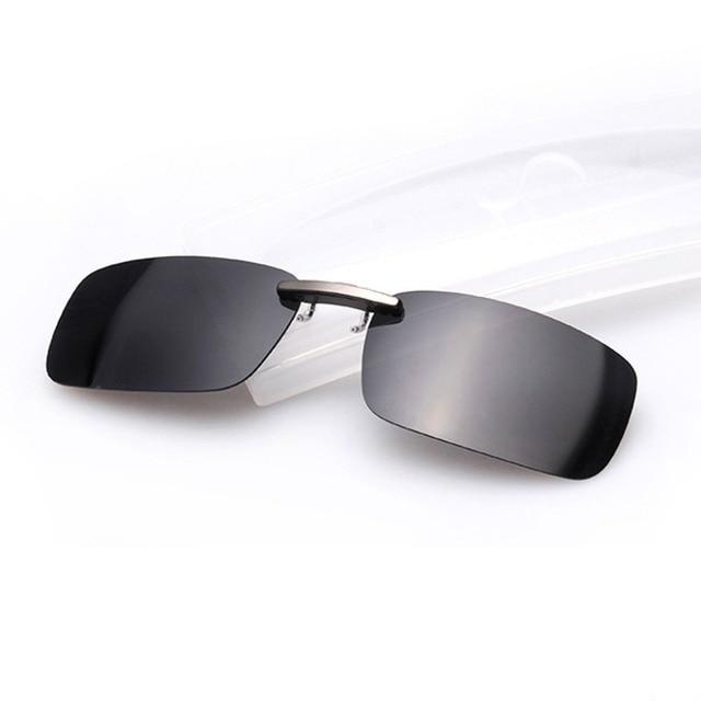 Rétro Clip on Lunettes de Soleil Aviateur Polarisé Lentilles lunettes Solaire Conduite Hommes (Argent/Vert polarisé) WkDhtes