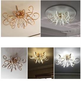 Image 4 - ポストモダンシンプルなledシャンデリアリビングルーム照明大気クリエイティブ人格クリスタルアートホールマスター寝室ライト
