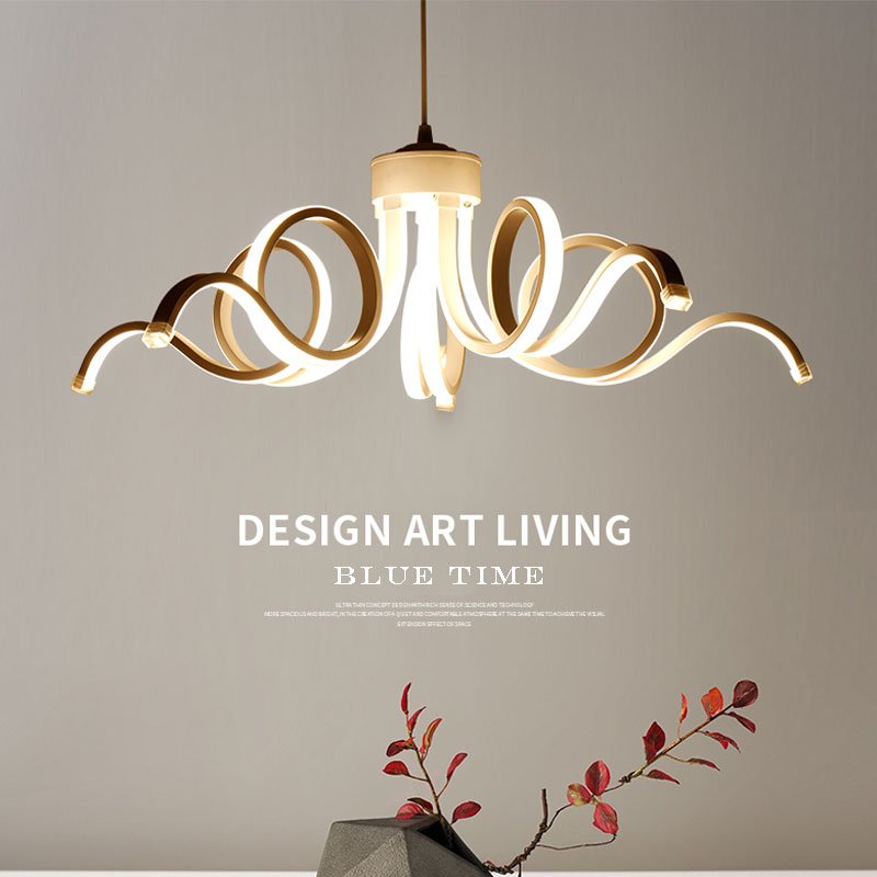 купить White Modern LED Chandelier For Dining room Living room Kitchen Lamp Led Ceiling Chandelier Lighting Fixtures Lamparas de techo по цене 6287.73 рублей