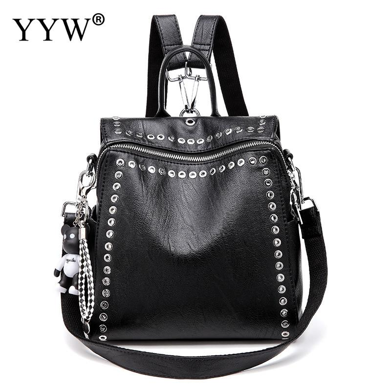 Soft Leather Backpack Women Casual Hand Bag Black Casual Travel Shoulder Bags Large Capacity Rucksack Zipper Ladies Schoolbag Soft Leather Backpack Women Casual Hand Bag Black Casual Travel Shoulder Bags Large Capacity Rucksack Zipper Ladies Schoolbag