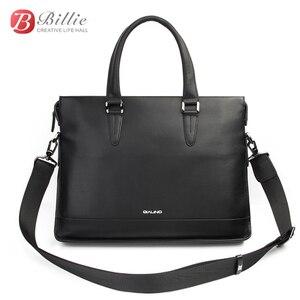 """Image 3 - Funda para portátil para Macbook Asus Dell 12 """"13"""" 14 """"de lujo genuino para hombre maletín de alta calidad bolso de mano bolso de ordenador"""