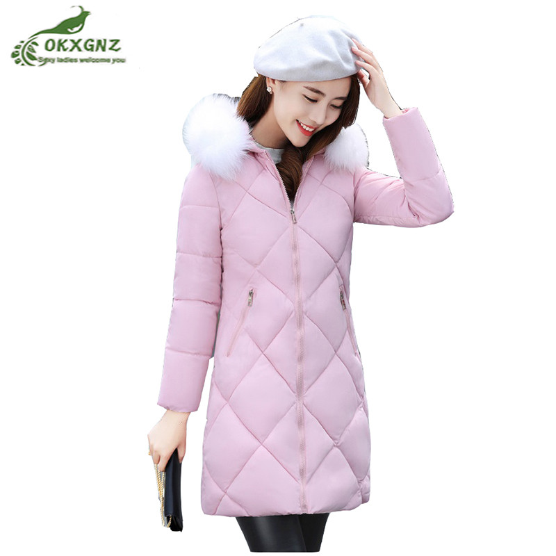 Winter women Outerwear medium long style fur collar thickening Down cotton coat women new large Size warm Jacket coat OKXGNZ 10piece 100% new isl9563bhz 9563bhz qfn chipset