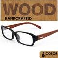 Gafas Vintage masculinos Mujeres gafas de marco de madera magia llanura marcos de las lentes