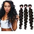 7А Перуанский Девы Волос Освобождает Волну Человеческих Волос Weave 3 Связки Перуанский Свободно Вьющиеся Наращивание Волос Rosa Продукты Королева Волос