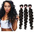 7A Peruvian Virgin Hair Loose Wave Human Hair Weave 3 Bundles Peruvian Loose Curly Hair Extensions Rosa Queen Hair Products