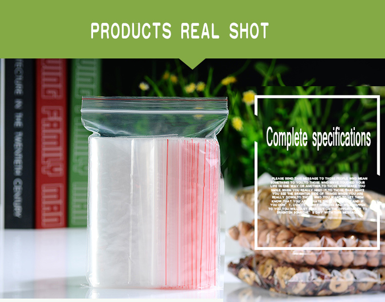 1 Transparent,Ziplock bag,Reseal,Zipper,Bulging ed edge,line,package,Store,Home,Office,food,magazine,Powder,granules.Dried fruit,tea,seasoning,whole grains,casual  (11)