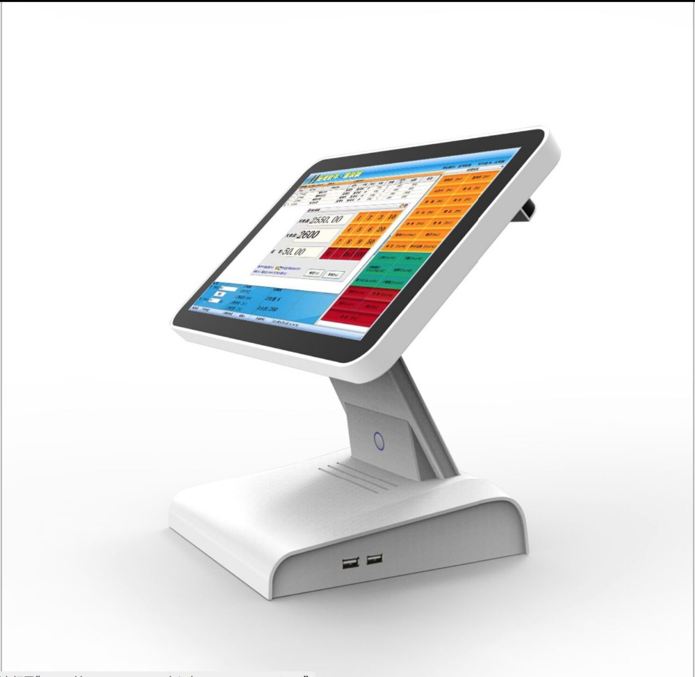 15.6 Inch BLACK Touch Screen Cashier Machine All In One Pos System