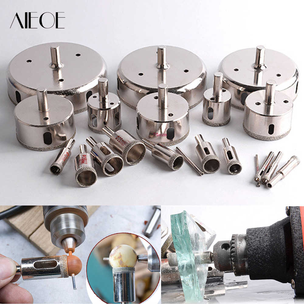 4-110 mm Diamond Coated Core Ball Saw Drill Bit Set Power Tools for Tiles Marble Wood Amber Glass Ceramic Hole Saw Drilling Bits