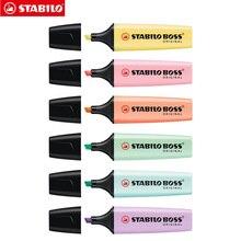 Stabilo BOSS Originale Evidenziatore Pastelli Pennarello 6 Trendy Colori Pastello 2 + 5mm Scalpello Punta Fluorescente Clear View evidenziatore