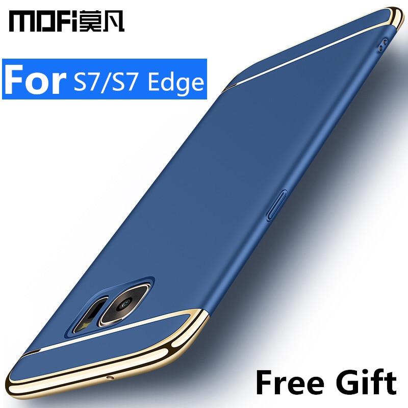 för Samsung s7-fodral Samsung galaxy s7 kantfodral täcker hårt baksida skyddande telefon capas joint MOFi original galaxy s7 edge case