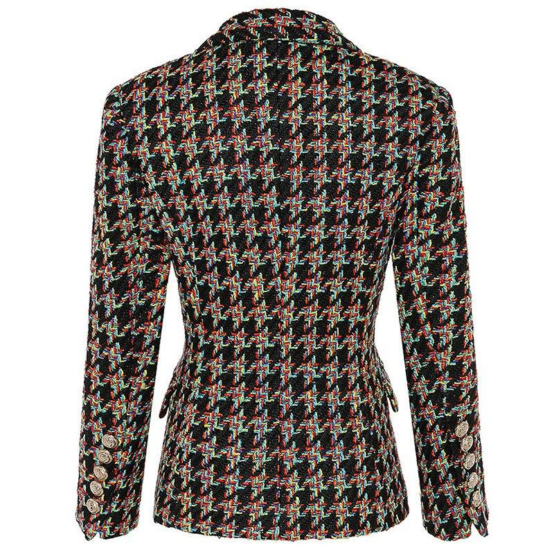 Femelle Manteaux Blazers Extérieure Or Xl Double Longues De Conception Boutons Manches À 1 Nouvelle Veste Blazer Femmes Manteau Supérieure Laine Qualité 8xqAwUU