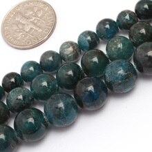"""6 мм 8 мм 10 мм круглые гладкие кианит бисер природный камень бисер DIY свободные шарики для браслета делая strand 15 """"оптовые!"""