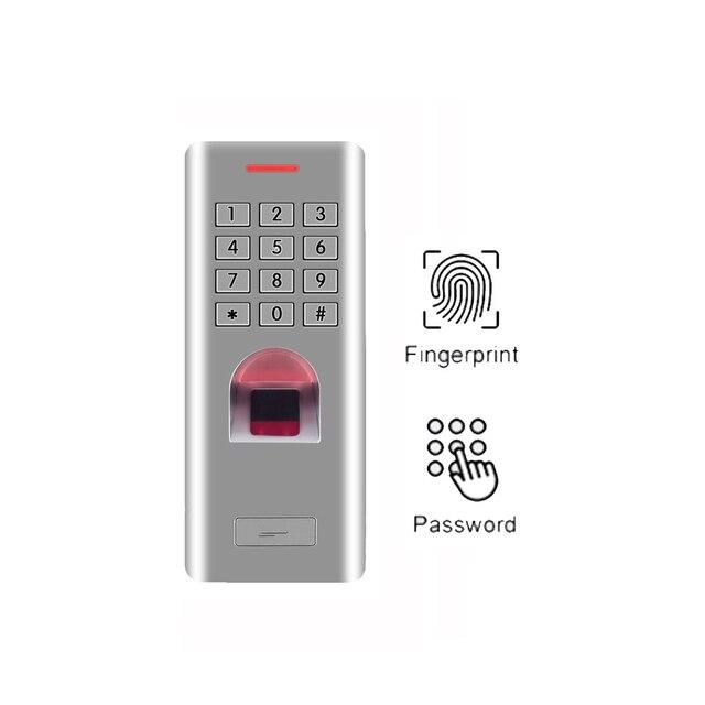 1000 kullanıcılar su geçirmez IP66 şifre parmak izi erişim kontrolü Metal kasa Anti Vandal biyometrik kapı kilidi erişim kontrolü tuş takımı