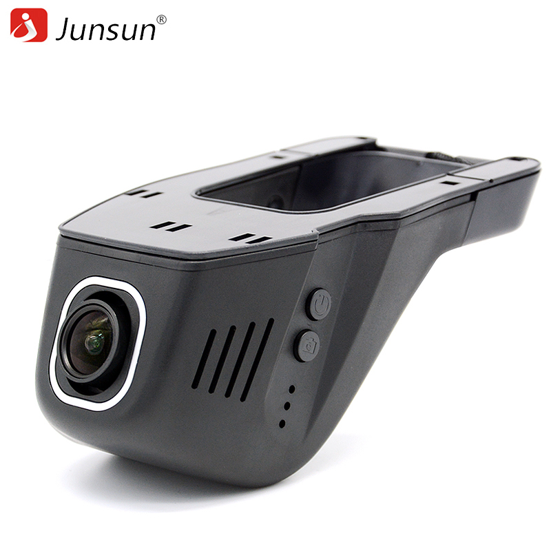 Junsun Car DVR Camera Video Recorder WiFi APP Manipulation Full HD 1080p Novatek 96655 IMX 322 Dash Cam Registrator Black Box car dvr camera video recorder wireless wifi app manipulation full hd 1080p novatek 96658 imx 322 dash cam registrator black box