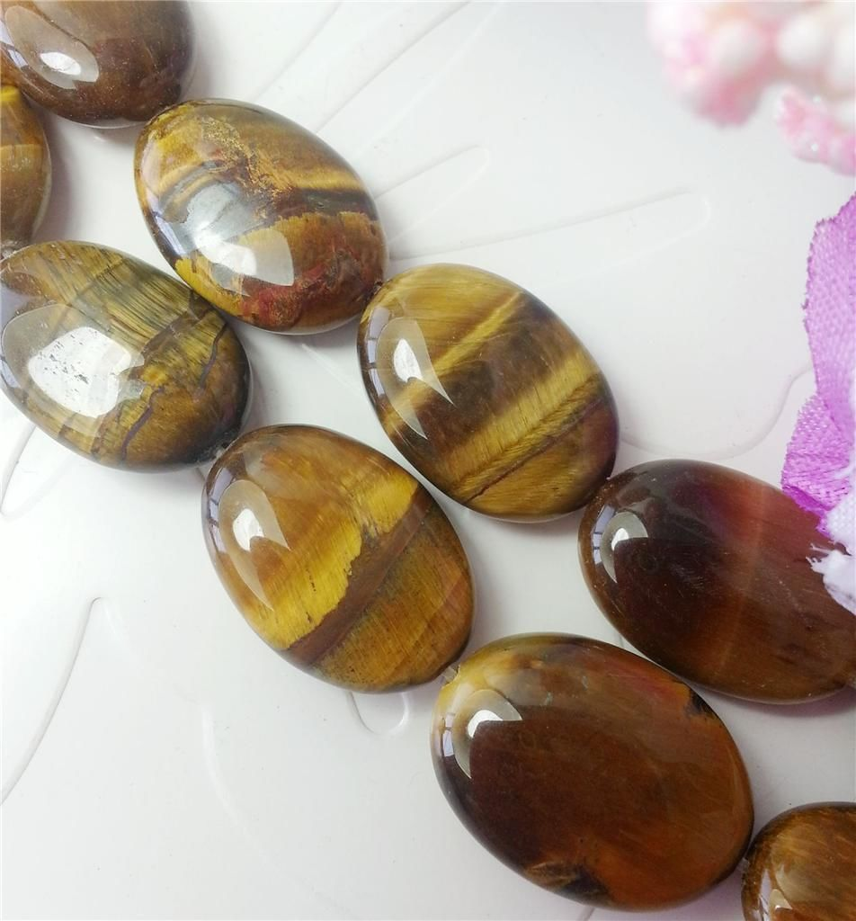 13x18mm Natural African Roar Tiger's Eye Oval Stone Loose Beads Fashion Jewelry Semi-Precious Natural Stone 15inch Wholesale fashion natural stone 13x18mm lovely oval lapis lazuli stones beads chain necklace for women party wedding jewelry 18inch my5179