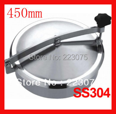New arrival 450mm SS304 Circular manhole cover without pressure, Height:100mm tank Hatch new arrival 450mm ss304 circular manhole cover with pressure round tank manway door full view glass cover with good connection