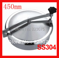 New arrival 450mm SS304 Circular manhole cover without pressure, Height:100mm tank Hatch