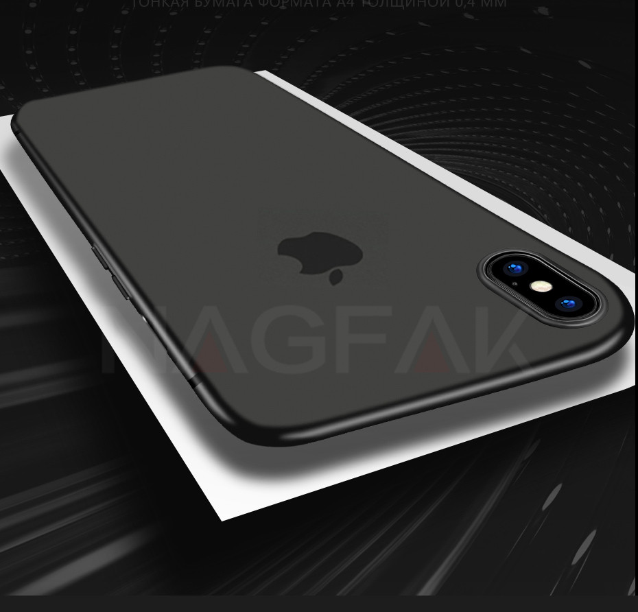 0.29Mm Matte Phone Iphone 6 6S Plus 8 7 Plus Case Ultra Thin Hard Cover For Iphone X 5 5S SE 10 Phone Bag Cases