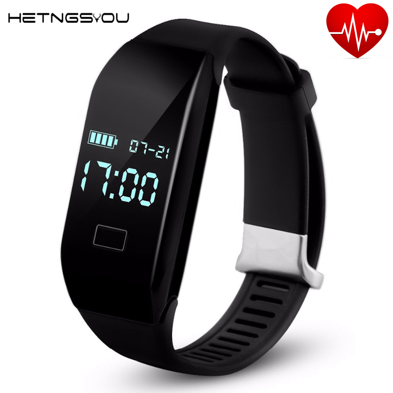 imágenes para HETNGSYOU Nuevo Anti-pérdida de Alarma de vibración de Fitness Inteligente Banda soporte de Monitor de Ritmo Cardíaco Reloj banda xiaomi 2 ID107 PK pulsera