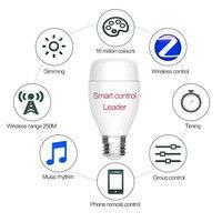 חכם oobest E27 הנורה WiFi אור LED 6 W RGB 16 מיליון צבע עבור Alexa הנורה RGB בקרת קול עבור אנדרואיד IOS אלחוטי