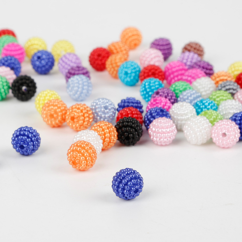 100pcs/lot 10mm Acrylic Bayberry Beads ABS Imitation Pearl Beads Loose Round Beads for Jewelry Making DIY Bracelet Necklace(China)