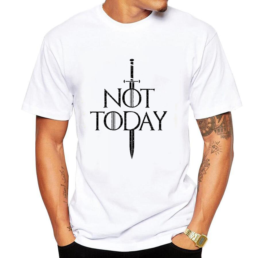 Dracarys Arya Stark Shirt Game of Thrones Not Today Tshirt Top Tees Men T Shirt Summer White Tee Streetwear Mother of Dragons image