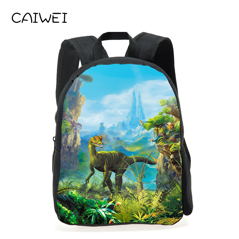 New Style Kids Baby School Bags 12 Inches Printing Dinosaur Animal Kindergarten Small Backpack Mini Schoolbag for Children Gift new style school bags for boys