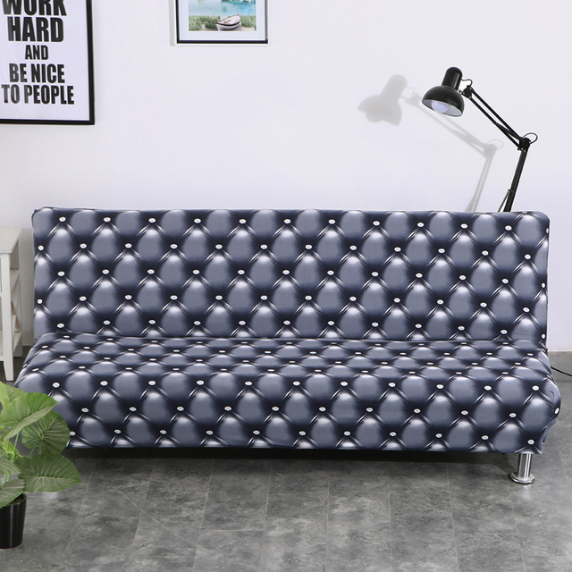 US $21.9 30% OFF|Universal Armless Sofa Bed Cover Folding seat slipcover  Modern stretch covers cheap Couch Protector Elastic Futon bench Cover-in ...
