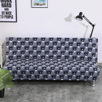 Universal Armless Sofa Bed Cover Folding seat slipcover Modern stretch covers cheap Couch Protector Elastic Futon bench Cover