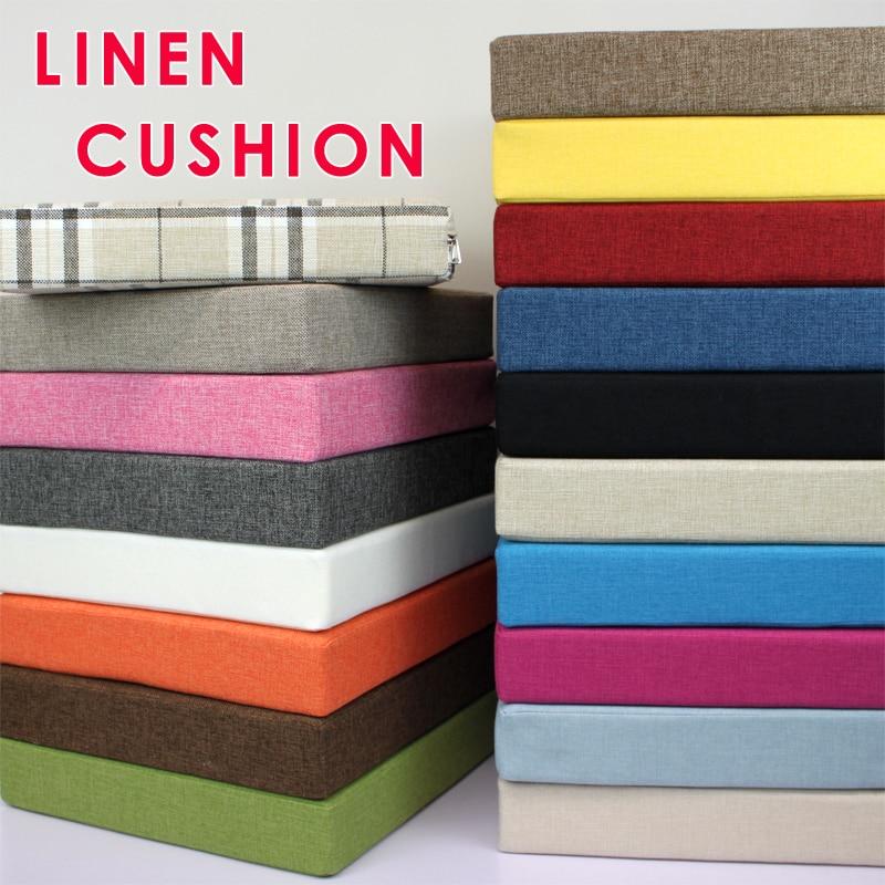 New Linen Cushion Comfortable Lumbar Pain Relief Cushion Office Chair Seat Cushion Sofa Pads Foam