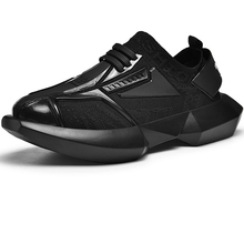 2019 New Trend Thick Sole Men Running Shoes Sneakers Zapatos Footwear Male Sport Outrdoor For Walking Black Run