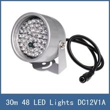 Waterproof 30m illuminator Fill Assist Night Vision infrared IR 48 LED Lights for CCTV Security Camera