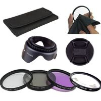 58MM Macro Close Up+10 Filter+UV CPL FLD Filter Kit +hood for Canon 18 55mm Lens