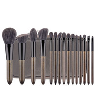 MSQ 15Pcs Professional Make Up Brush Set Synthetic Hair Eyeshadow Brush Eyebrow Brush Blending Foundation Brush Kit Make Up To