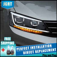 Faros LED de 2 piezas para Volkswagen jetta 11-18 luces Led de coche doble lente de xenón accesorios de coche de día las luces de la luz de niebla