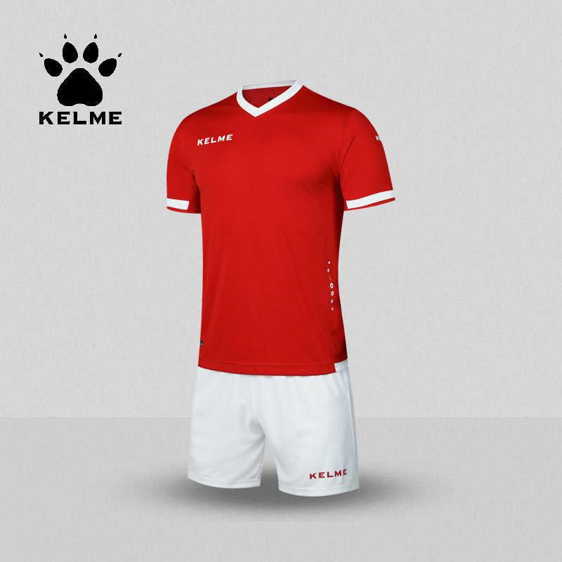 94a1a83028336 KELME Brand Soccer Set College Football Jerseys Custom Soccer Jerseys  Training Survetement Football Men Uniforms K15Z212