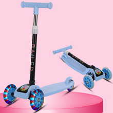 Children Scooter Tricycle Baby 3 In 1 Balance Bike Ride On Toys Flash Folding Meter Car Child Toys Ride on Toys children scooter 3 wheel folding flash swing car lifting 2 15 years old baby stroller ride bike vehicle children toys gifts