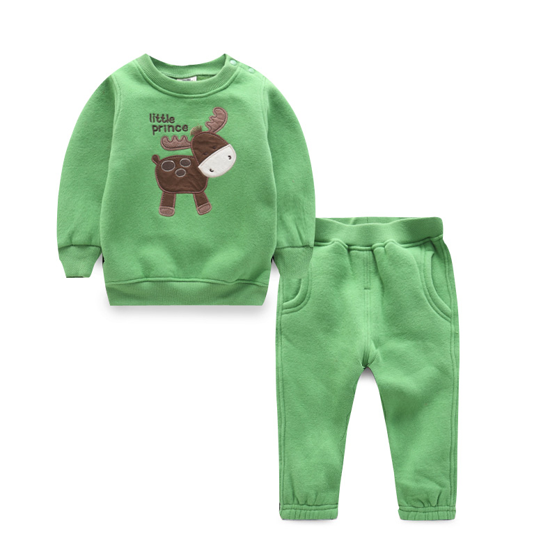Chidren Kids Boys Clothing Set Autumn Winter 2 Piece Coat +pants Suits Fall Cotton Baby Girls Animal Tracksuit Outdoor Clothes