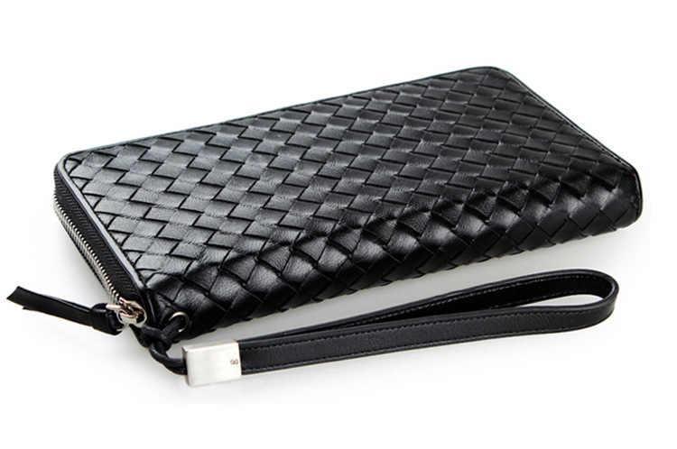 Genuine leather large capacity  wallet, designer long wallet, day men's soft leather clutch bag wrist wallet