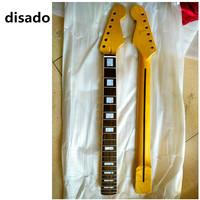 disado 22 Frets maple Electric Guitar Neck rosewood fretboard inlay block glossy paint no paint guitar parts accessories